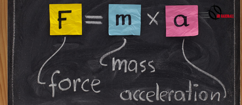 Force = Mass x Acceleration (+HR)